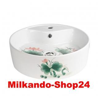 Design Keramik Aufsatzwaschbecken Waschbecken Waschtisch Waschschale Bad Kr 137 - Vorschau 1
