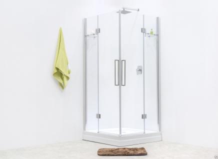 Luxus Echtglas Duschabtrennung Duschkabine Dusche Acryl Duschwanne Siesta Ok - Vorschau 1