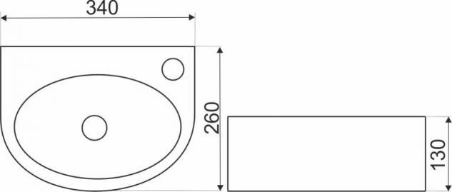 Design Keramik Aufsatzwaschbecken Waschbecken Waschtisch Waschschale Bad Kr 601 - Vorschau 2