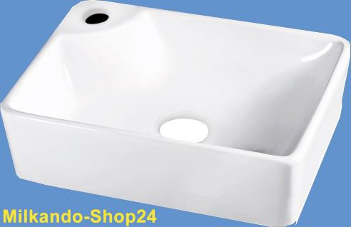 Design Keramik Aufsatzwaschbecken Waschbecken Waschtisch Waschschale Bad Kr 44 - Vorschau 1