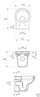 Design Luxus Wand HÄNGE-WC BAD KERAMIK DECKEL TOILETE Inkl.Wc SitzNano - Vorschau 3