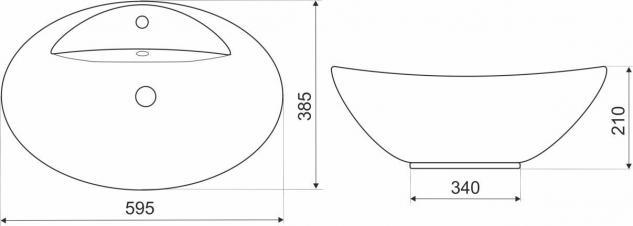 Design Keramik Aufsatzwaschbecken Waschbecken Waschtisch Waschschale Bad Kr 727 - Vorschau 2