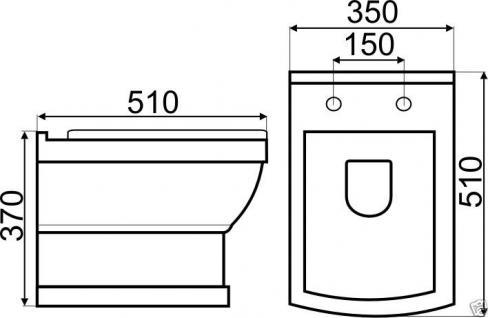 design wand h nge wc keramik keramik wc retro classic toilette softclose kr16 kaufen bei. Black Bedroom Furniture Sets. Home Design Ideas