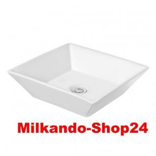 Design Keramik Aufsatzwaschbecken Waschbecken Waschtisch Waschschale Bad Kr 154 - Vorschau 1