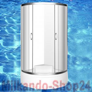 Viertelkreis Duschkabine 90x90cm Duschtasse Duschabtrennung Duschwanne Dusche AT - Vorschau 1