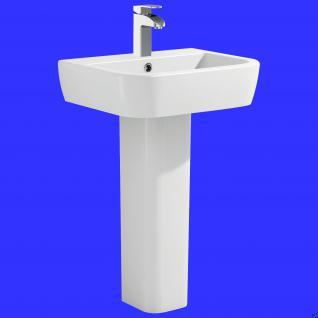 design waschbecken keramik waschtisch inkl s ule stand wc komplett set m al kaufen bei. Black Bedroom Furniture Sets. Home Design Ideas