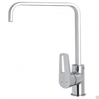 Design Einhandmischer Küchenarmatur Wasserhahn Chrom Waschtisch Armatur GA5