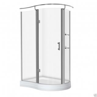 Luxus Echtglas Duschabtrennung Duschkabine Dusche Acryl Duschwanne 120 X 90 Cmnt - Vorschau 1