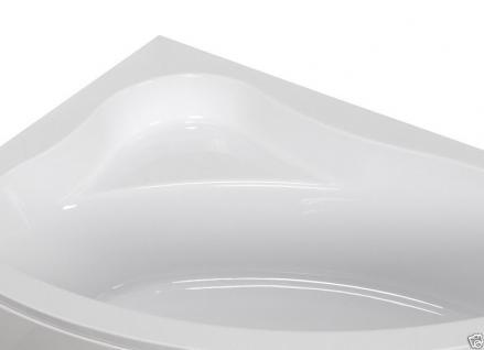 Badewanne Eckwanne Wanne 150 x 100 cm Links + Wannenträger + Ablauf+ Schürze !! - Vorschau 5
