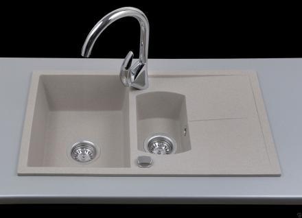 Graphit Beige Granitspüle Spülbecken Granit Spüle Küchenspüle Bogart Beige - Vorschau 1