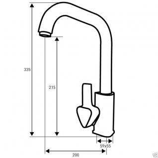 Edle Einhand Küchen Spültisch Küchenarmatur Spültischarmatur Armatur VE5  - Vorschau 2