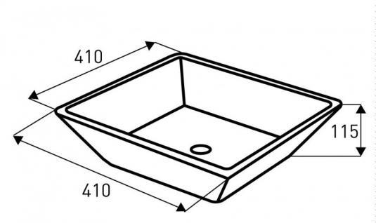 Design Keramik Aufsatzwaschbecken Waschbecken Waschtisch Waschschale Bad Kr 154 - Vorschau 2