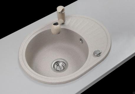 Graphit Beige Granitspule Spulbecken Granit Spule Kuchenspule Felix
