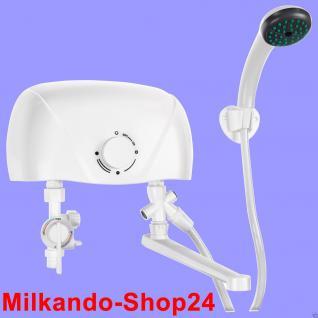 Mini Klein Durchlauferhitzer elektronisch inkl. Amatur 5, 5 Kw Mit Dusche - Vorschau