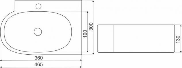 Design Keramik Aufsatzwaschbecken Waschbecken Waschtisch Waschschale Bad Kr 607 - Vorschau 2