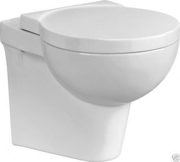 Design Luxus Wand HÄNGE-WC BAD KERAMIK DECKEL TOILETE Inkl.Wc SitzNano