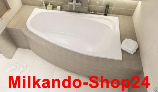 Badewanne Eckwanne Wanne 145 x 95 cm Links + Wannenträger + Ablauf TOP Angebot