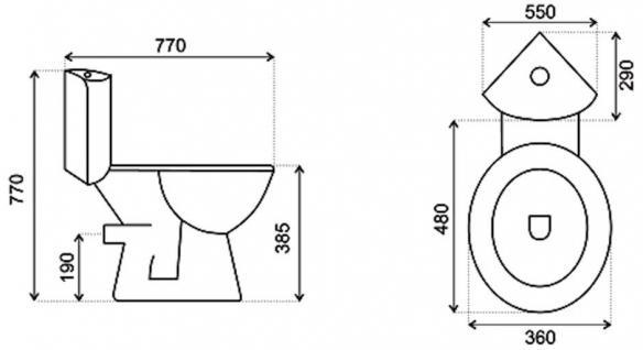 design eck wc toilette stand wc komplett set sp lkasten keramik ecksp lkasten kaufen bei. Black Bedroom Furniture Sets. Home Design Ideas