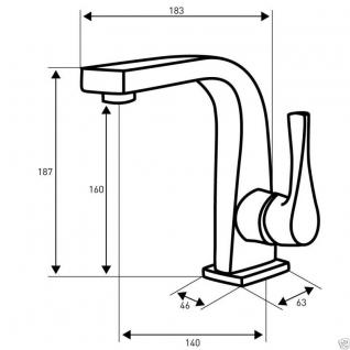 Design Einhandmischer Bad Badezimmer Wasserhahn Chrom Waschtisch Armatur SE1 - Vorschau 2