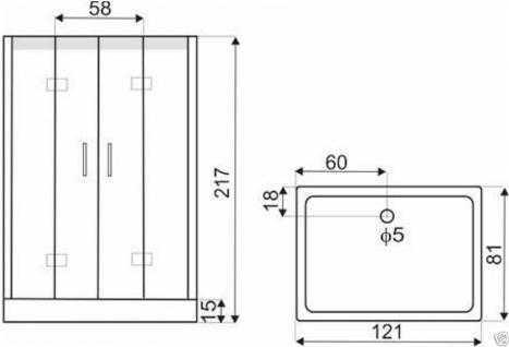 duschtempel fertigdusche duschkabine echt glas komplett dusche wanne 121 x81cm kaufen bei. Black Bedroom Furniture Sets. Home Design Ideas