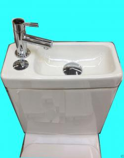 Design Stand Wc komplett set Spülkasten KERAMIK inkl. Waschbecken Gäste WC - Vorschau 2