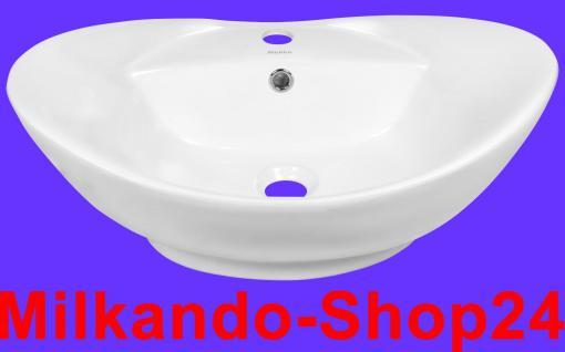 Design Keramik Aufsatzwaschbecken Waschbecken Waschtisch Waschschale Bad Kr 727 - Vorschau 1