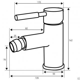 Bidet Einhandmischer Bad Badezimmer Wasserhahn Bidet Armatur BS2NS - Vorschau 2