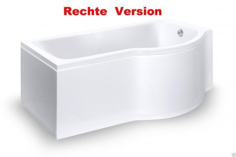 Badewanne 170 inkl. Front- und Seitenschürze, Badewannen-Duschwand mit Wanne - Vorschau 3