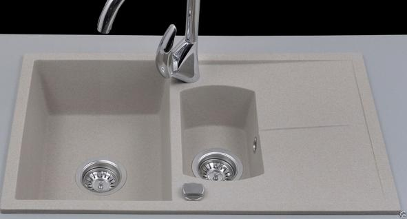 Graphit Beige Granitspüle Spülbecken Granit Spüle Küchenspüle Bogart Beige - Vorschau 2