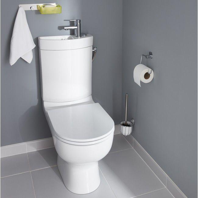 Bekannt Design Stand Wc komplett set Spülkasten Keramik inkl. Waschbecken KZ09