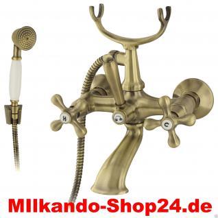 Design Nostalgie Retro Kreuzgriff Badewanne Armatur lux04 WannenbatterieMessing