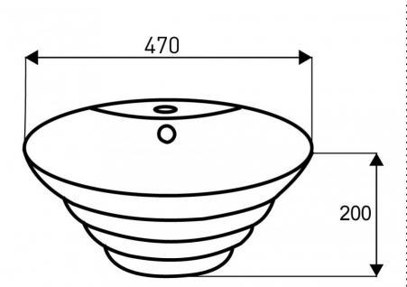 Design Keramik Aufsatzwaschbecken Waschbecken Waschtisch Waschschale Bad Kr 134 - Vorschau 2