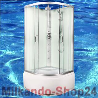DUSCHTEMPEL FERTIGDUSCHE DUSCHKABINE ECHT GLAS KOMPLETT DUSCHE Wanne 90 X 90 cm