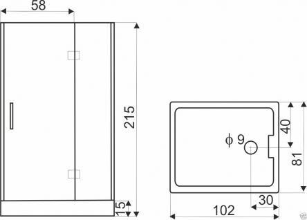 DUSCHTEMPEL FERTIGDUSCHE DUSCHKABINE ECHT GLAS KOMPLETT 102 x 81cm Rechte - Vorschau 3