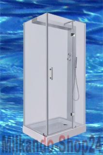 Luxus DUSCHTEMPEL DUSCHKABINE ECHT ESG GLAS ECK Duschabtrennung 100 x 80 cm GR