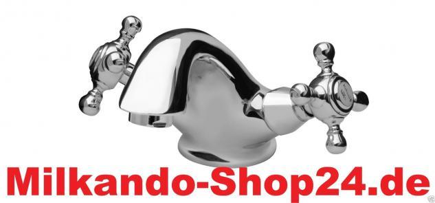 Wasserhahn Nostalgie Retro Armatur, Waschtischarmatur, Messing Waschbecken - Vorschau 1