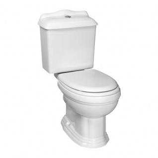 Nostalgie Retro Wc Toilette Stand komplett set inkl. Spülkasten Keramik Inkl. Sitz