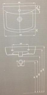 Waschbecken Gäste WC Unterschrank Badmöbel Hochglanz Badezimmer Kollo Pi Möbel - Vorschau 3