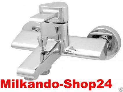 Design Wannenfüller Bad Badezimmer Wasserhahn Chrom Badewanne Armatur VE03