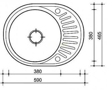 Graphit Beige Granitspüle Spülbecken Granit Spüle Küchenspüle Felix Beige - Vorschau 3