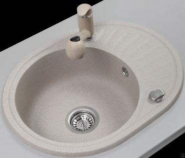 Graphit Beige Granitspüle Spülbecken Granit Spüle Küchenspüle Felix Beige - Vorschau 2