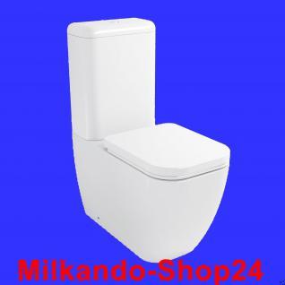 Design Wc Stand Wc komplett set mit Spülkasten KERAMIK 3/6L.Abfluss Waagerecht