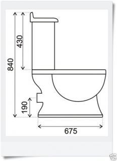Nostalgie Retro Wc Toilette Stand komplett set inkl.Spülkasten KERAMIK Inkl.Sitz - Vorschau 3