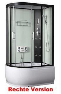 duschtempel fertigdusche duschkabine echt glas komplett dusche wanne 120x81cm kaufen bei. Black Bedroom Furniture Sets. Home Design Ideas
