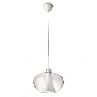 Philips Ecomoods Pendelleuchte Weiß Glas Ø 34, 5cm inkl. Leuchtmittel