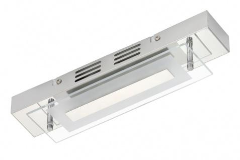 Briloner Schmale LED Badleuchte Deckenleuchte Chrom 500lm 3000K 30x7x5, 5cm