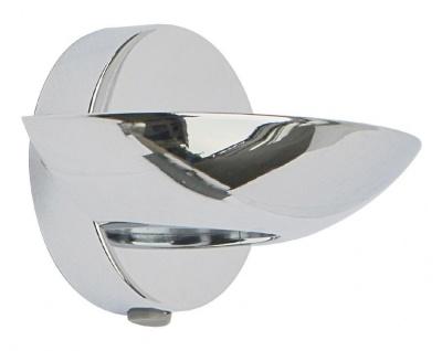 Wandleuchte LED Chrom 5W/230V 309lm Ein/Aus Schalter Warmweiß 10, 8x16, 6x10cm