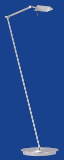 Deutsche Halogen Stehleuchte Nickel matt Fußdimmer Ausladung von 48-80cm
