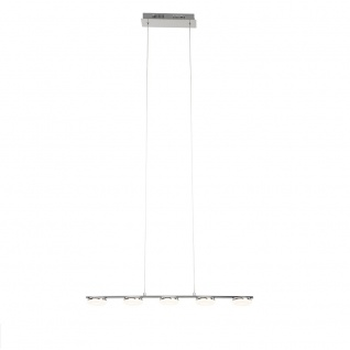 LED Hänge-/Pendelleuchte Chrom 5x4, 2W je 270lm Dimmbar 150x77x9cm