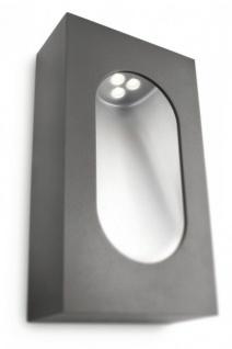 Philips Ledino PowerLED Wandaussenleuchte Anthrazit Aluminium 350lm 7, 5W 2700K